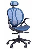 Кресло Lotus HR пластик черный/сетка синяя АМФ