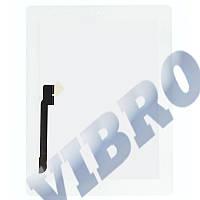 Тачскрин (сенсор) со стеклом и рамкой для iPad New 3, iPad 4, цвет белый