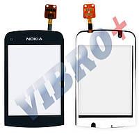 Тачскрин (сенсор) Nokia C2-06, C2-02, C2-03, С2-07, C2-08, цвет черный