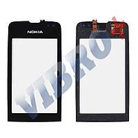 Тачскрин (сенсор) Nokia 311 Asha, маленькая микросхема, цвет черный