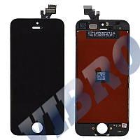 Дисплей iPhone 5 с тачскрином в сборе, цвет черный, копия высокого качества, TEST OK