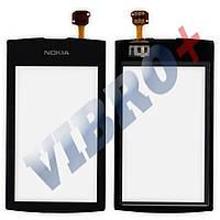 Тачскрин (сенсор) Nokia 305, 306 Asha, цвет черный, копия высокого качества