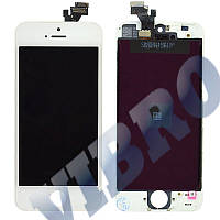 Дисплей iPhone 5 с тачскрином в сборе, цвет белый, TEST OK, копия высокого качества