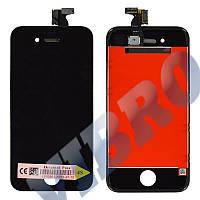 Дисплей iPhone 4S с тачскрином в сборе, цвет черный, TEST OK, копия высокого качества