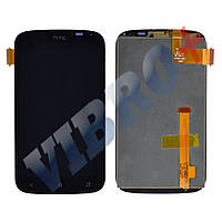 Дисплей HTC Desire X T328e с тачскрином в сборе, цвет черный