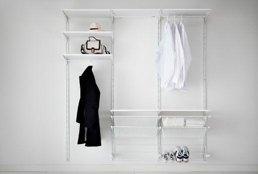 Открытые системы для хранения одежды и обуви IKEA