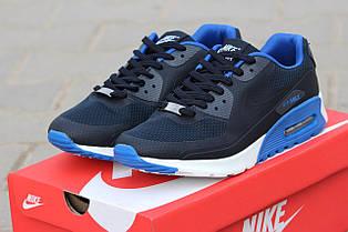 Мужские кроссовки NIKE AIR MAX Hyperfuse сетка,темно синие с голубым 42