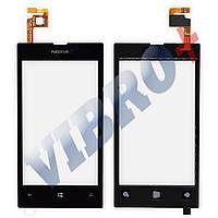 Тачскрин (сенсор) Nokia 520, 525 Lumia, цвет черный, маленькая микросхема