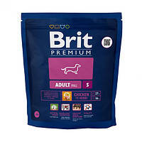 Brit Premium Adult S для взрослых собак маленьких пород, 1 кг.