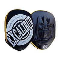 Лапы боксерские Excalibur (802) Black/Gold