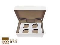 Коробка для капкейков 4 шт. 247*170*80
