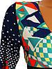 Разноцветное женское платье с длинным рукавом 44р, фото 2