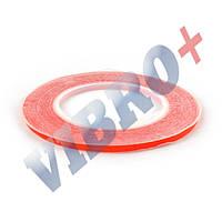 Двухсторонний скотч для приклеивания сенсоров (тачскринов), ширина 5 мм., красный