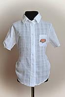 Рубашка для девочек, белая, с картинкой, фото 1