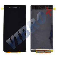 Дисплей Sony Xperia Z2 D6502, D6503 с тачскрином в сборе, цвет черный, маленькая микросхема