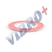 Двухсторонний скотч для приклеивания сенсоров (тачскринов), ширина 3 мм., красный
