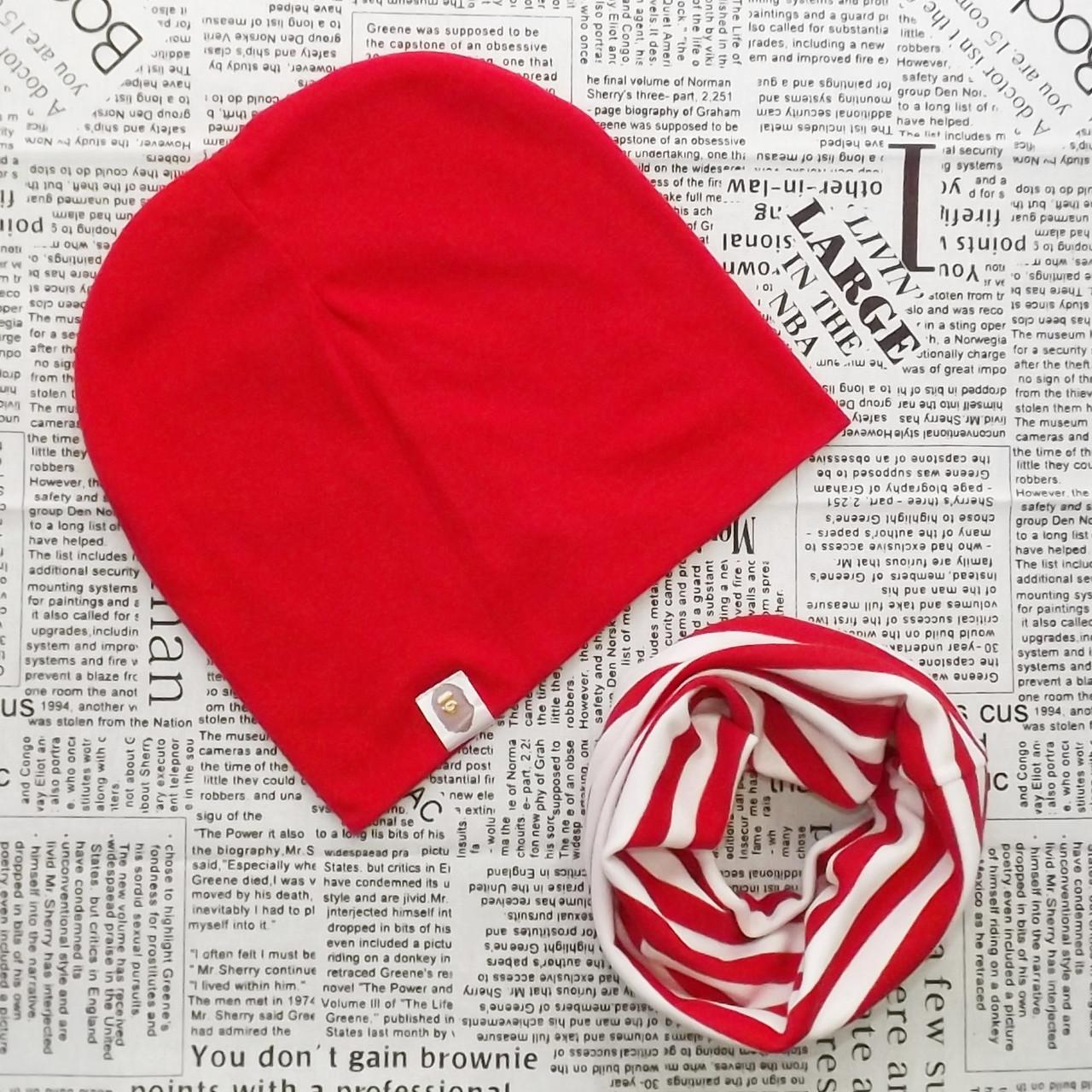 Комплект шапка Варі + шарф хомут для підлітків