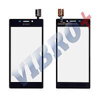 Тачскрин Sony Xperia M2 S50h, D2305, D2302, D2303, D2306, цвет черный