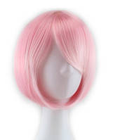 Парик каре нежно-розовый аниме