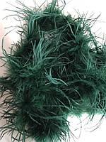 Боа страусинное однослойное.Цвет темно-зеленый. Длинна 1,8м