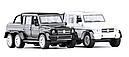 Коллекционная модель Mercedes G-6х6 Gelenvagen 1:36 Белый, фото 2