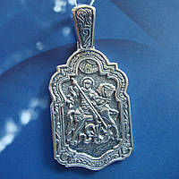 Серебряная подвеска-ладанка Георгий Победоносец, 12 грамм