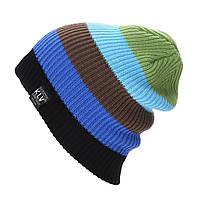 Вязаная мужская шапка для подростков и взрослых