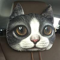 Подушка - подголовник 3D Кошка