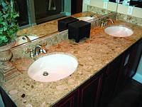 Каменные столешницы в ванную комнату