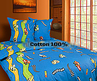 Полуторный комплект постельного белья подростковый 100% хлопок.
