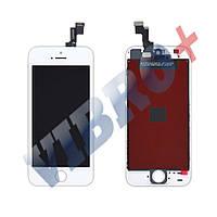 Дисплей iPhone 5S, iPhone SE с тачскрином в сборе, цвет белый, TEST OK