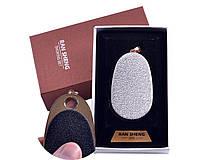 USB зажигалка-брелок в подарочной упаковке Яйцо (Спираль накаливания) №4867-4