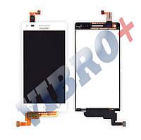 Дисплей Huawei Ascend G6-U10 с тачскрином в сборе, цвет белый