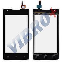 Тачскрин для мобильного телефона (смартфона) Lenovo A1000, цвет черный, маленькая микросхема