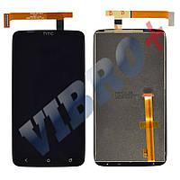 Дисплей HTC One X S720e, One XL X325 с тачскрином в сборе, цвет черный, уценка