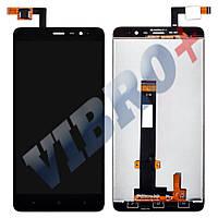 Дисплей Xiaomi Redmi Note 3 с тачскрином в сборе, цвет черный, большая микросхема