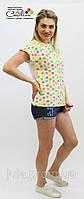 Женская футболка пёстрая для яркого лета