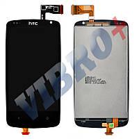 Дисплей HTC Desire 500 (506e) с тачскрином в сборе (цвет черный), копия высокого качества, ТЕСТ ОК