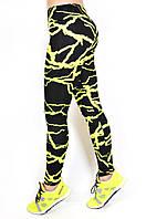 """Лосины леггинсы для фитнеса и спорта модель """"МОЛНИЯ-2""""код3110(3)(жёлтые"""
