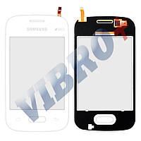 Тачскрин (сенсор) Samsung Galaxy Pocket 2 G110, G110B, G110F, G110M, цвет белый, маленькая микросхем