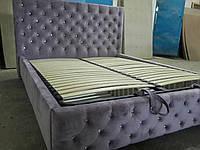Кровать двуспальная Люкс Манхеттен 2 без матраса с ящиком для белья, фото 1