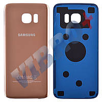 Задняя крышка Samsung G935F Galaxy S7 EDGE, цвет золотой