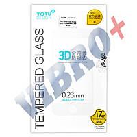 Защитное стекло TOTU для iPhone 7 (4.7) 3D Premium, 0.23 мм, цвет белый