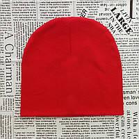 Демисезонная шапка детская 4-12 лет Красный