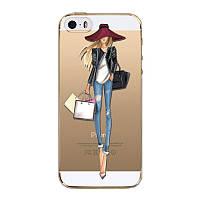 Чехол Apple Iphone 6 / 6S силикон TPU с рисунком №5