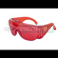 Очки защитные противоосколочные красные
