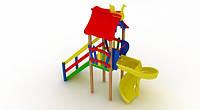 Детский комплекс Мини с пластиковой горкой Спираль DK02215PS