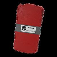 Чехол Книжка  Натуральная Кожа Ozaki для Samsung i8190 / S3 mini красный