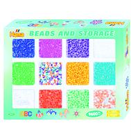 Набор цветных бусин, 9600шт 10 цветов и 2 смеси цветов Midi 5+
