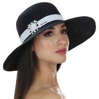 Женская шляпа  для лета цвет черный, фото 1